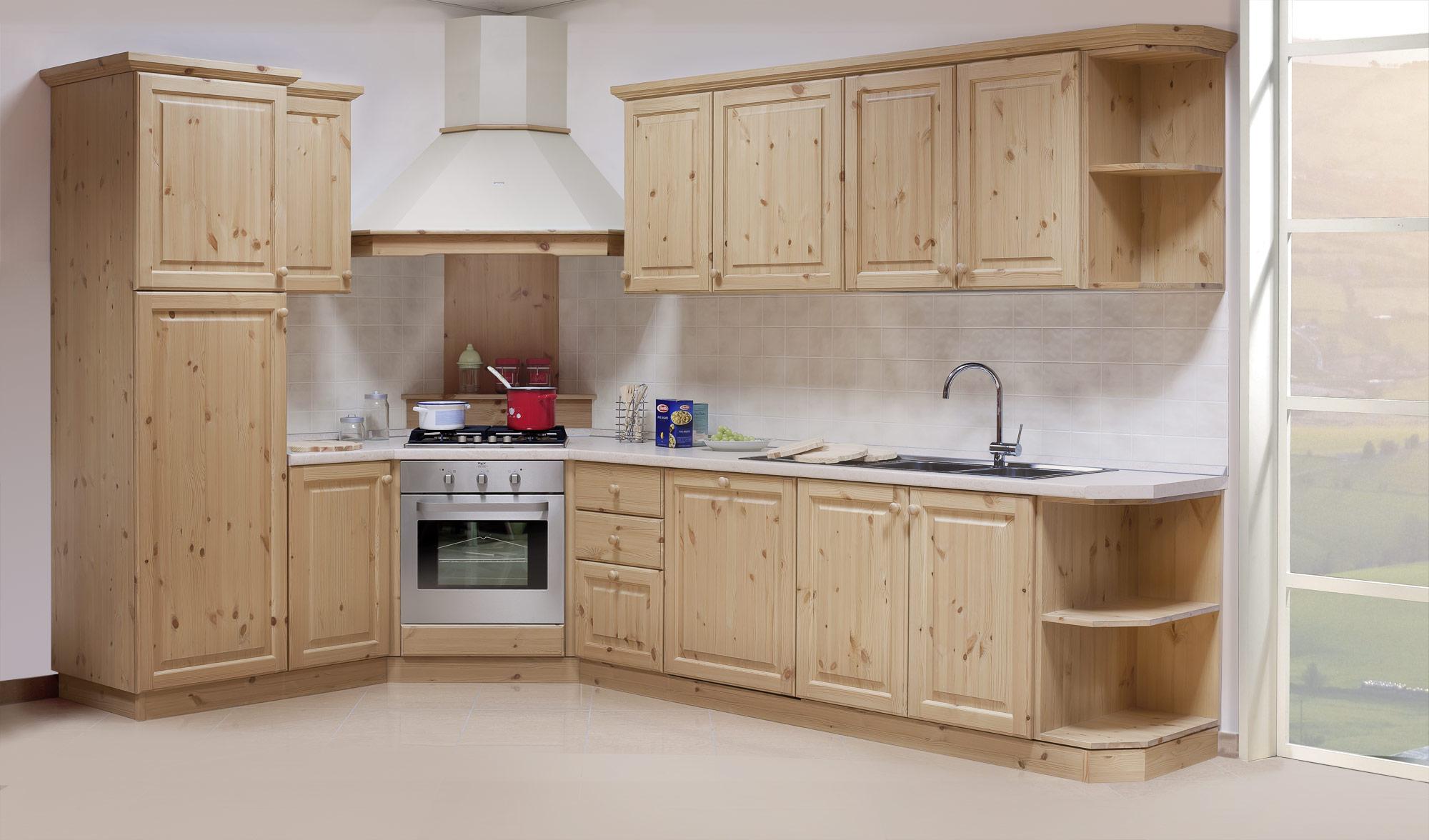 Arredamenti rustici composizione cucine personalizzate - Composizione cucina ad angolo ...
