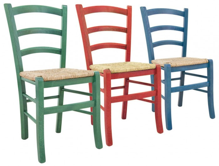 Sedie rustiche, Sedia Paesana colorata, Arredamenti Rustici