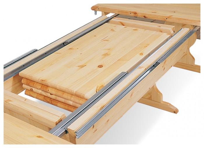 Tavoli in pino, Allungabile L190 a 370, Arredamenti Rustici