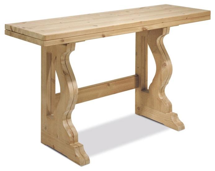 Tavoli in pino, Tavolo allungabile 80x80, Arredamenti Rustici