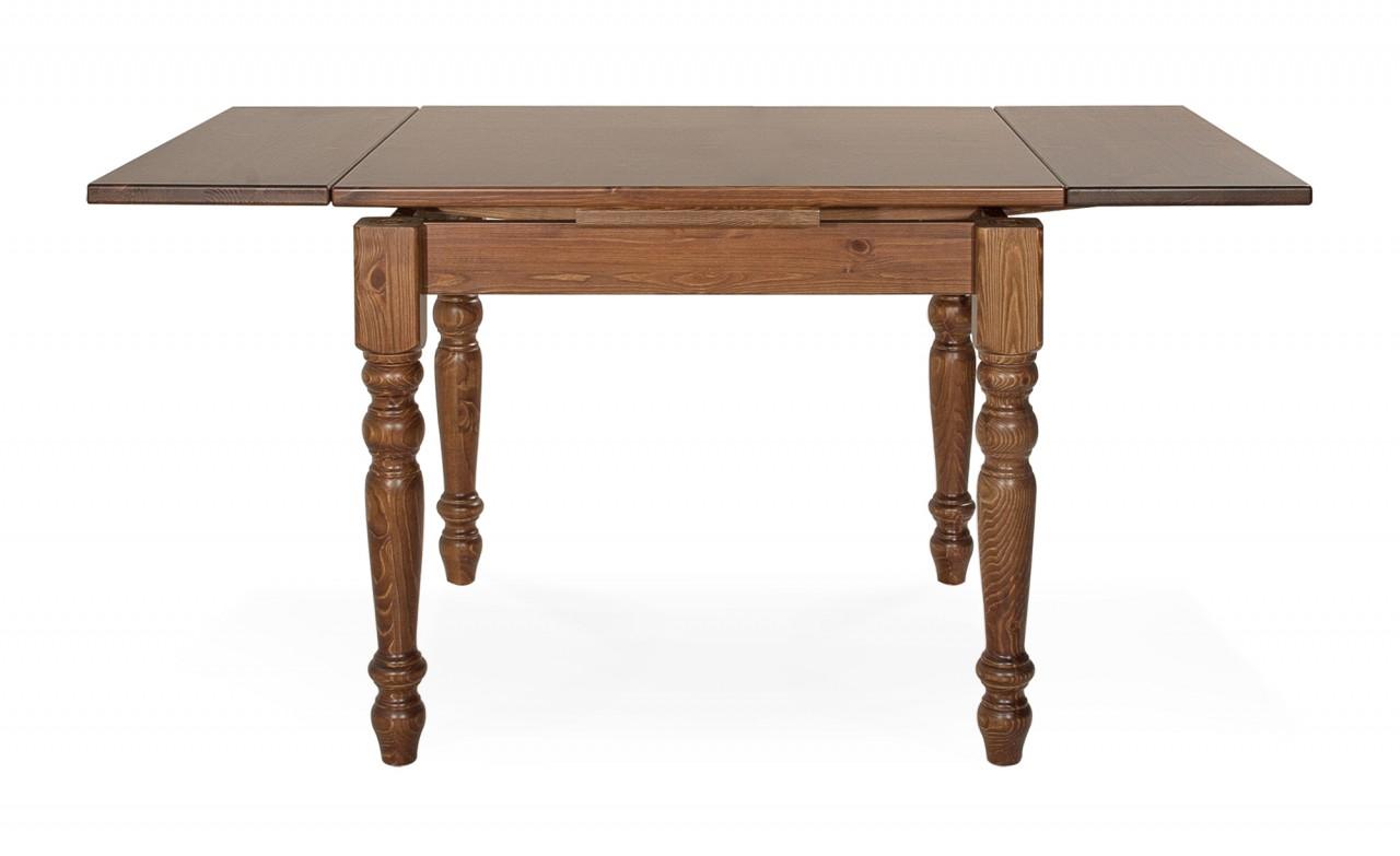 Tavoli in pino tavolo allungabile 90x90 arredamenti rustici for Tavoli rustici allungabili