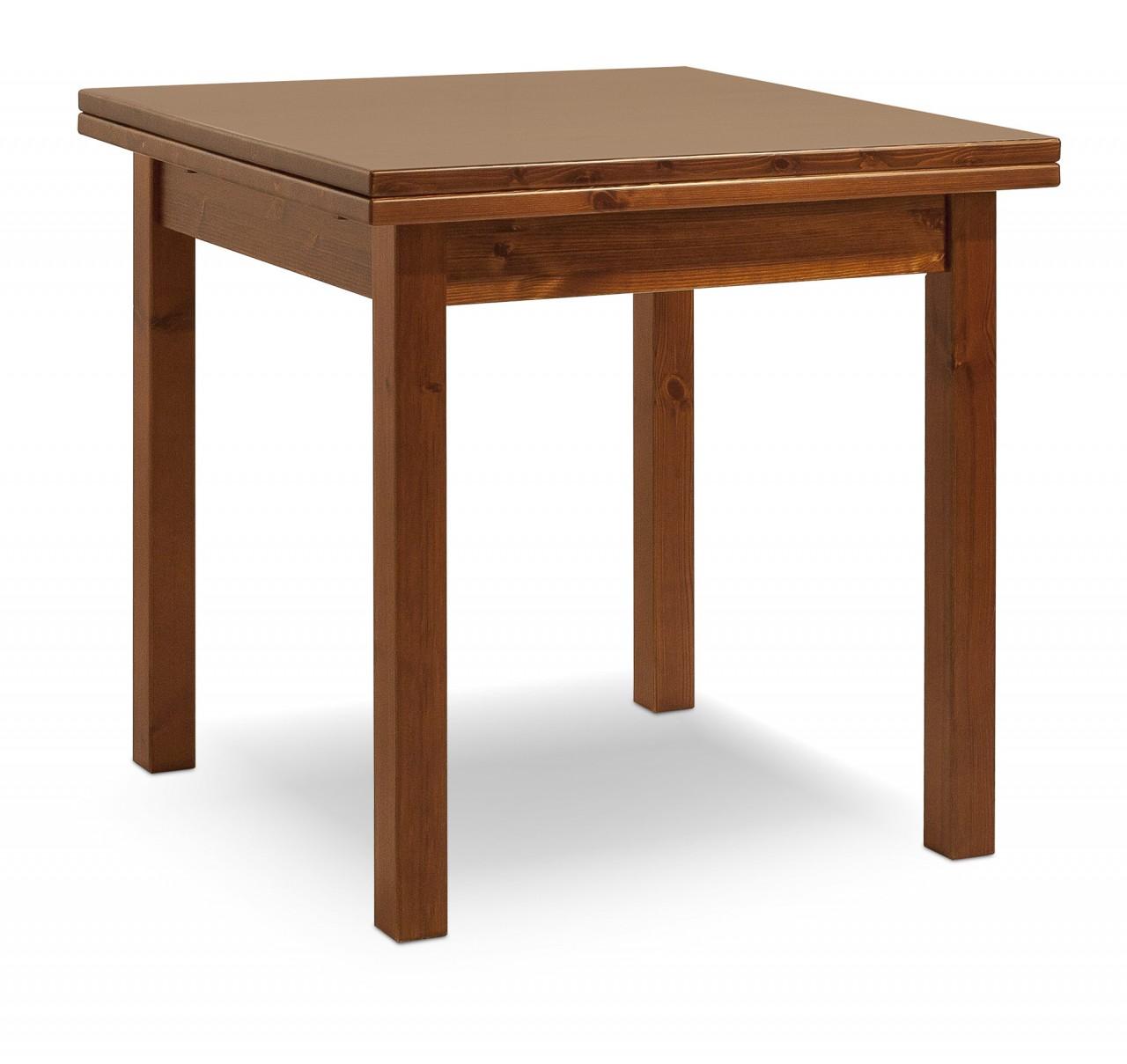 Tavoli in pino tavolo a libro 80x80 arredamenti rustici - Tavoli allungabili a libro ...