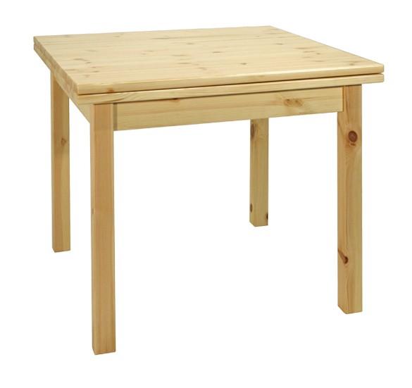 Tavoli in pino, Tavolo a libro 90x90, Arredamenti Rustici