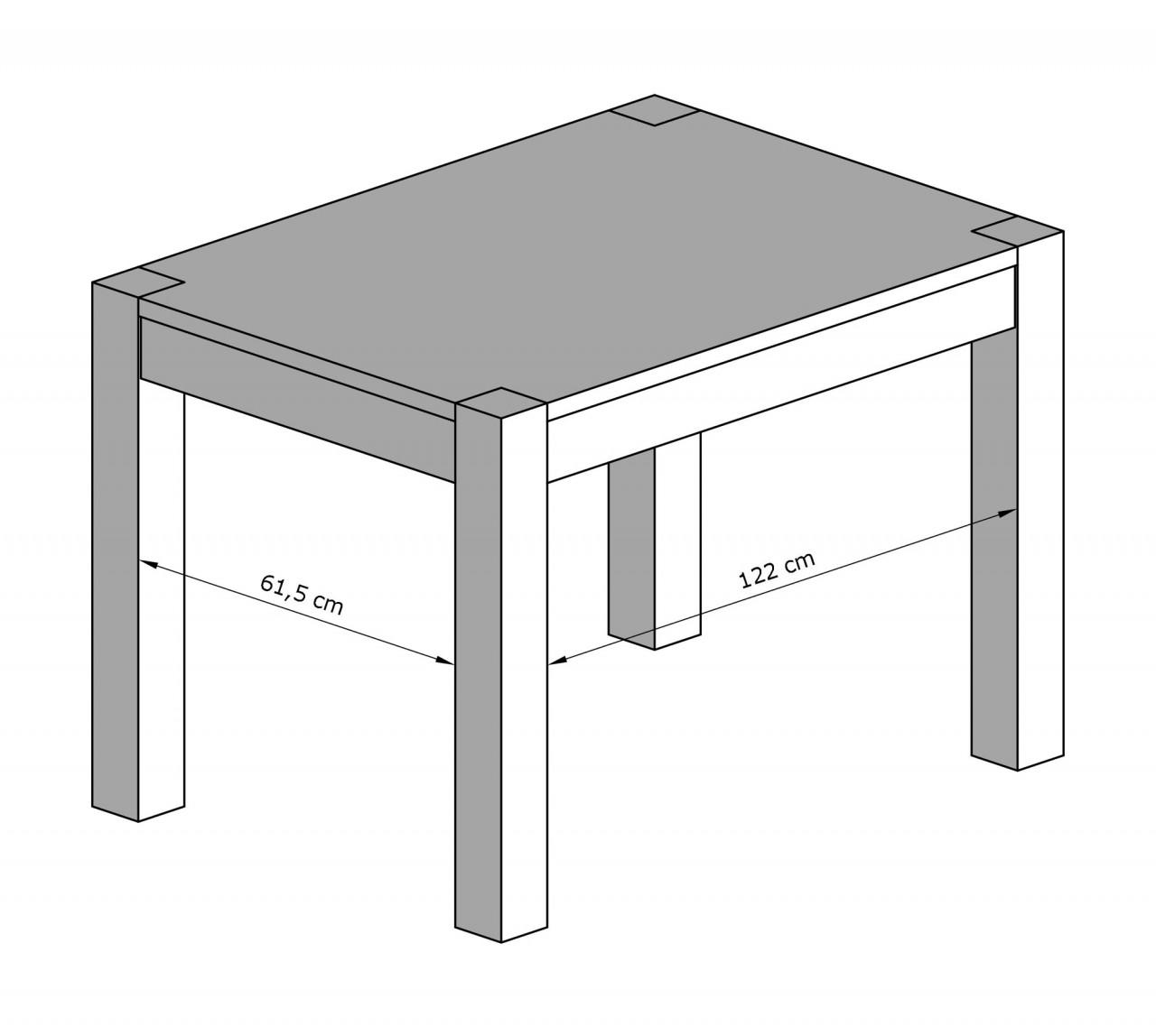 Tavoli in pino tavolo cubo l140 arredamenti rustici - Tavolo per 10 persone misure ...