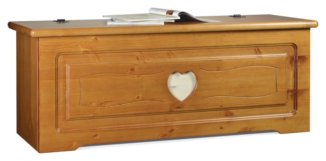 Basi credenze rustiche cassapanca cuore l76 arredamenti for Cassapanca legno grezzo
