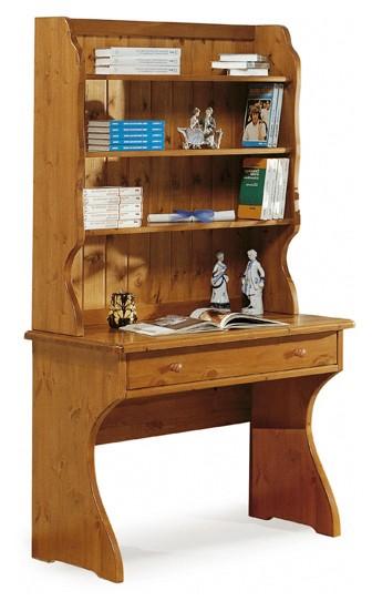 Complementi rustici scrittoio con libreria arredamenti for Scrivania con libreria sopra