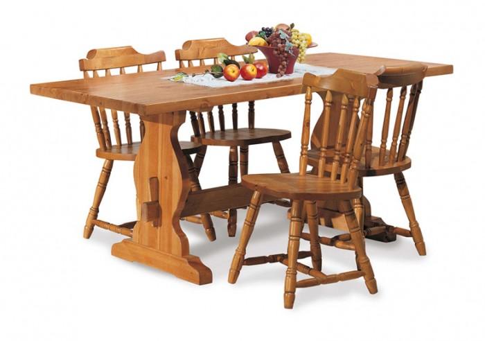 Tavoli in pino fratino l130 con 4 sedie arredamenti rustici - Sedie da abbinare a tavolo fratino ...
