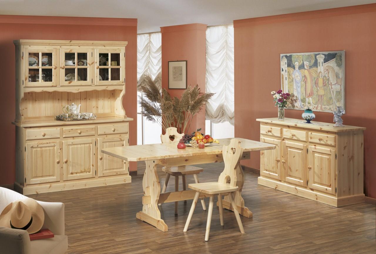 Cristalliere in pino composizione cortina arredamenti for Arredamenti rustici in pino