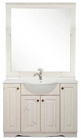 Arredo bagno in pino mobile bagno specchio arredamenti - Accessori bagno rustici ...