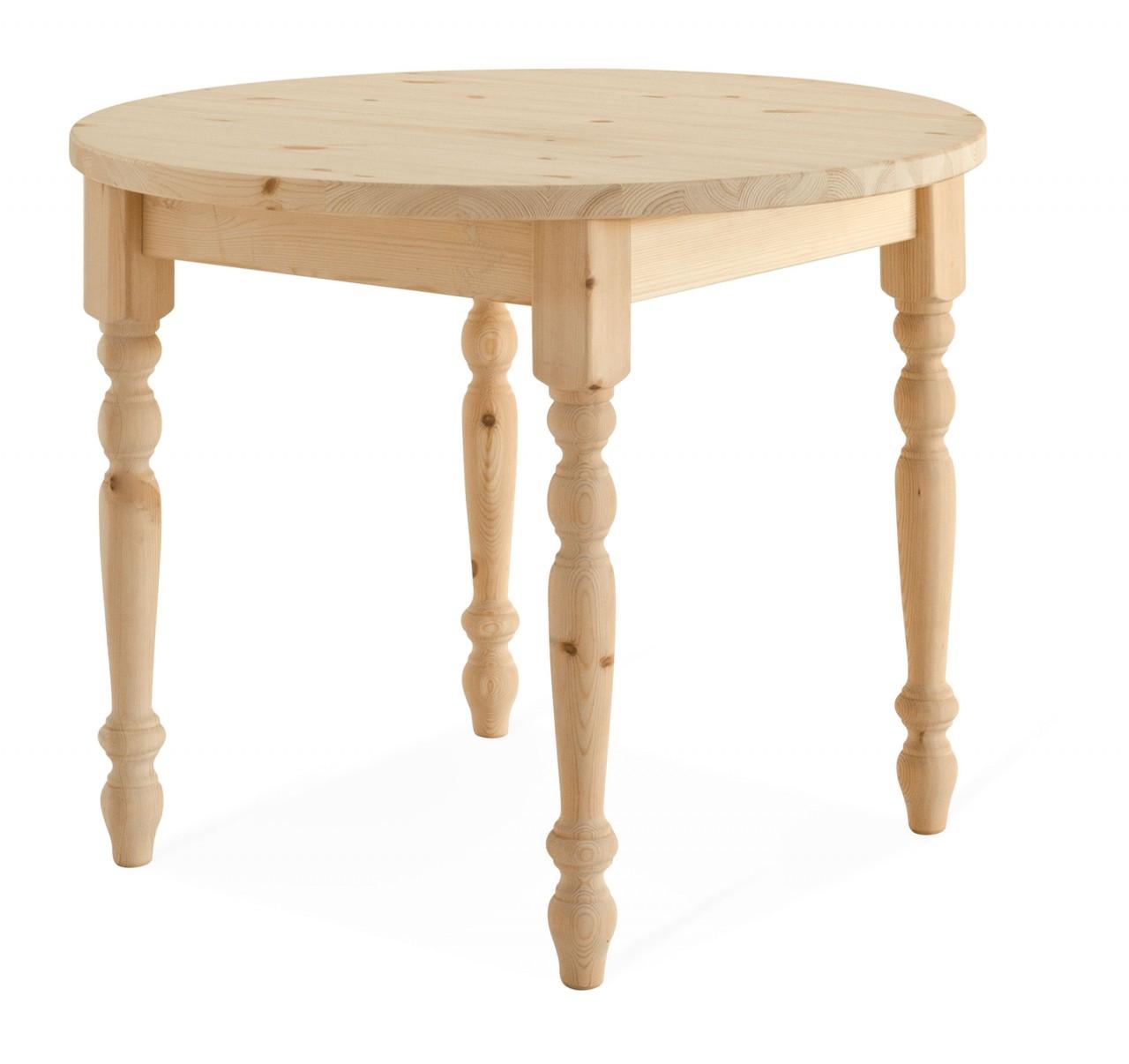 Tavoli in pino tavolo tondo arredamenti rustici for Tavolo tondo
