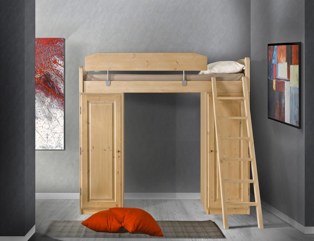 Camera da letto arte povera bianca e legno - Camere da letto soppalco ...