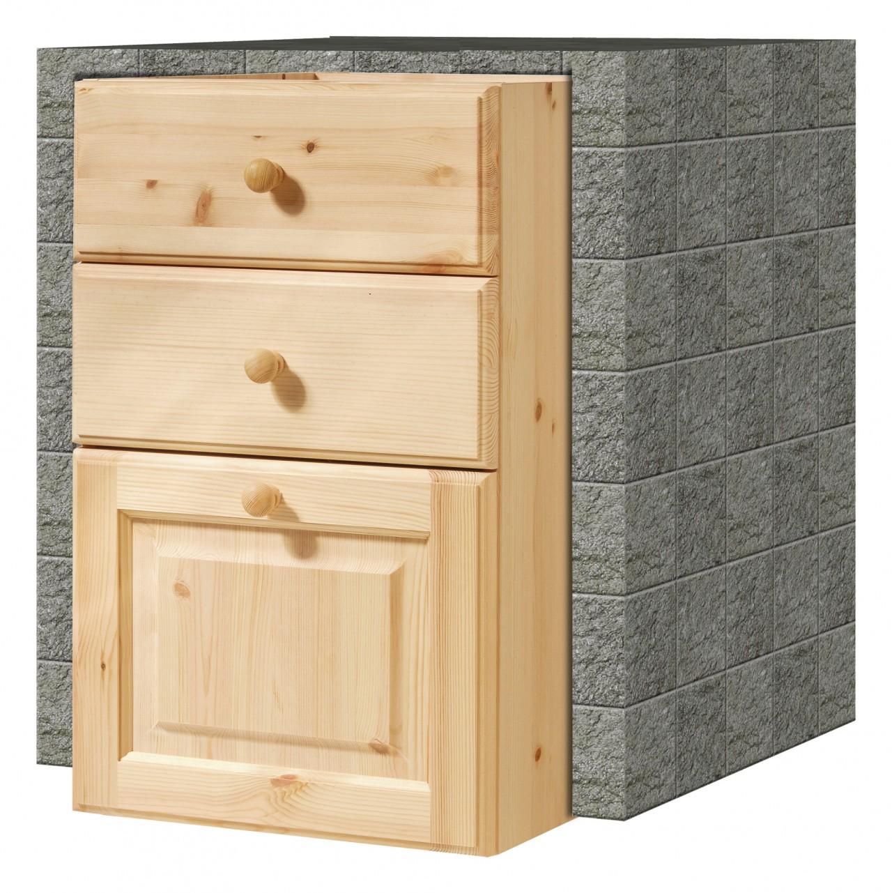 Cucina in muratura, Cassettiera da 45 2C+1C, Arredamenti Rustici