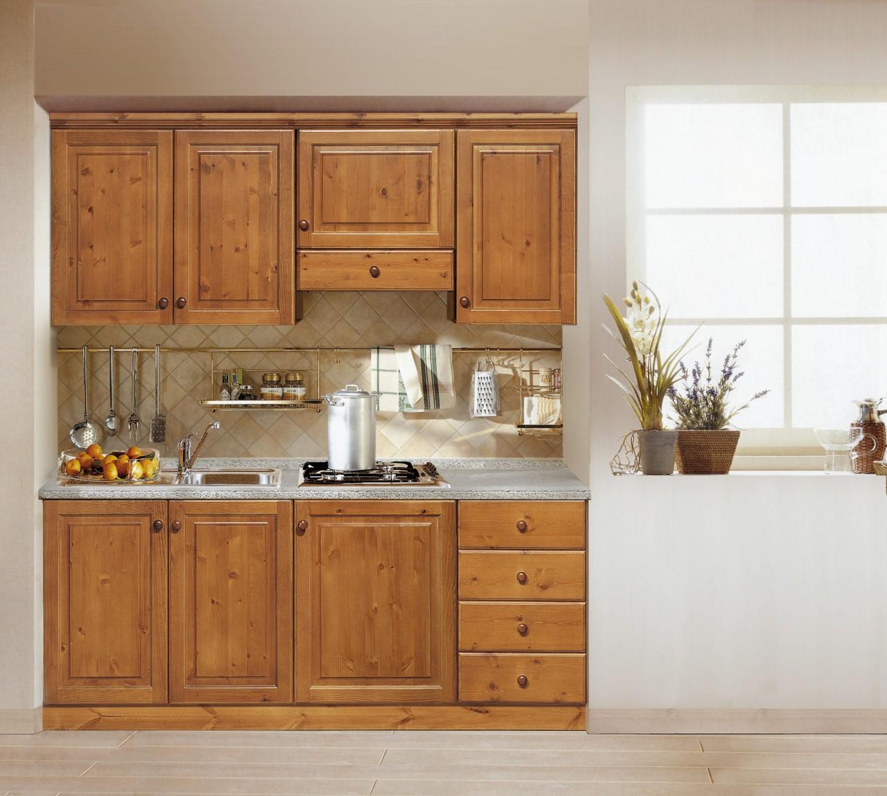 Cucine rustica, Composizione cucina 195, Arredamenti Rustici