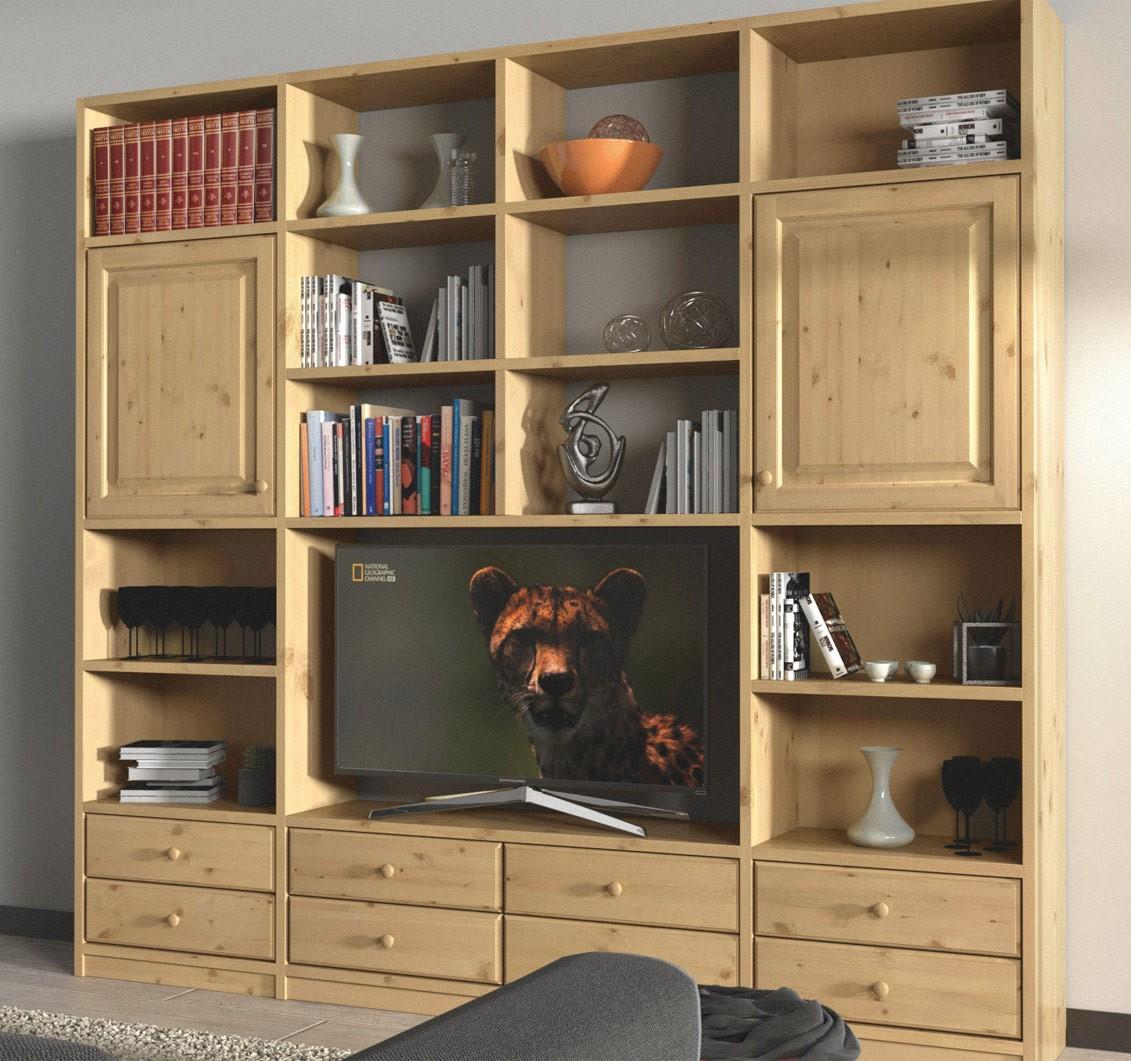 Soggiorni in pino, Libreria WoodDay L 250, Arredamenti Rustici