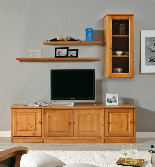 Soggiorni in pino composizione soggiorno arredamenti rustici for Arredamenti rustici in pino