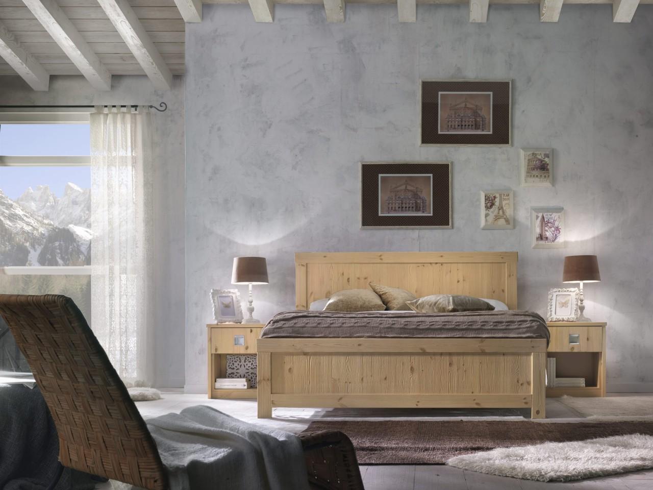 Camere da letto in pino camera milano arredamenti rustici - Camera da letto milano ...