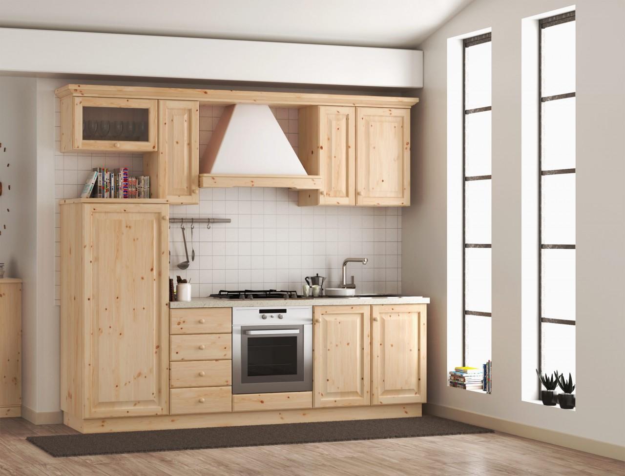 Cucine rustica, Cucina rustica L 255, Arredamenti Rustici