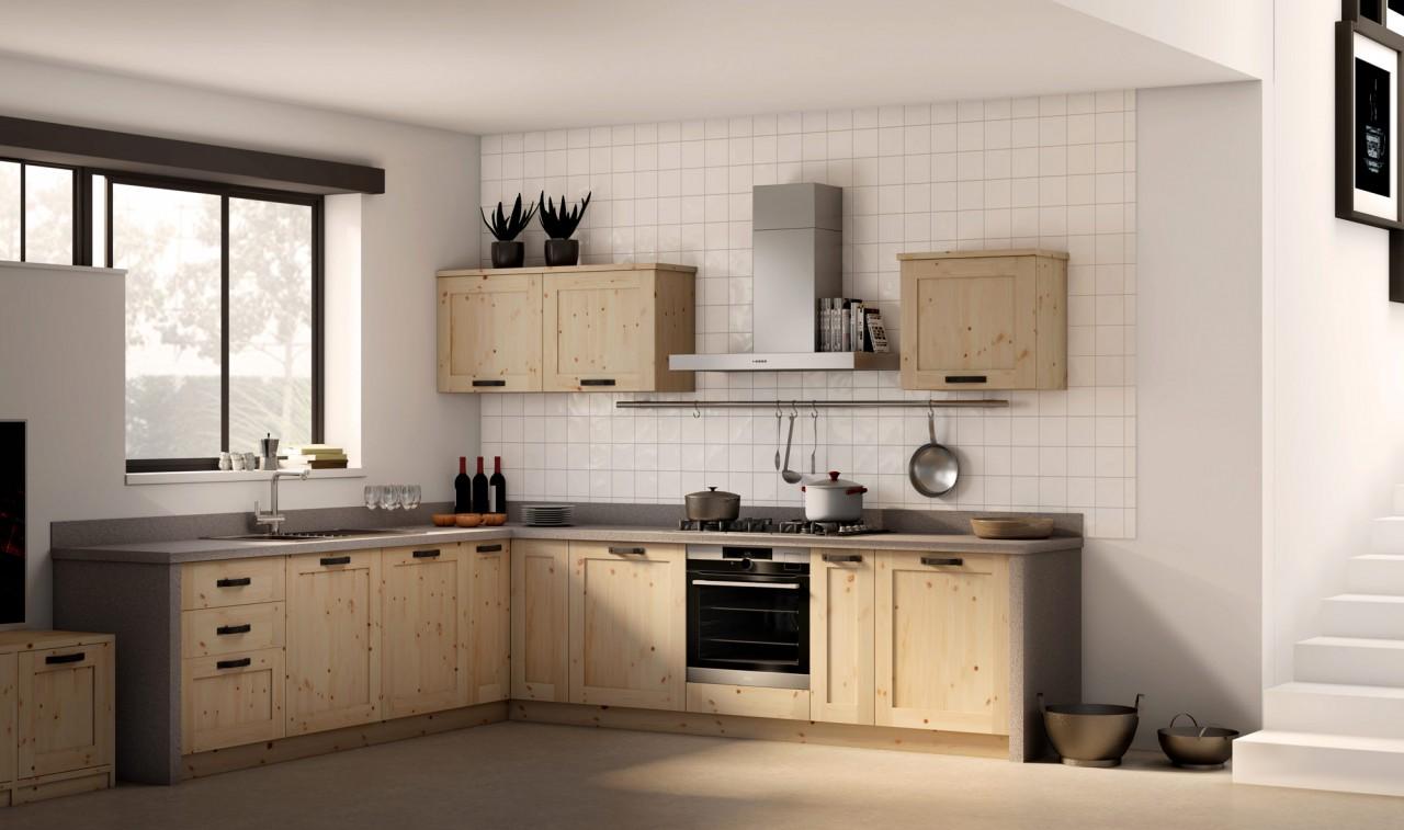 Cucine Rustiche Cucina Angolo Anta Treviso Arredamenti Rustici