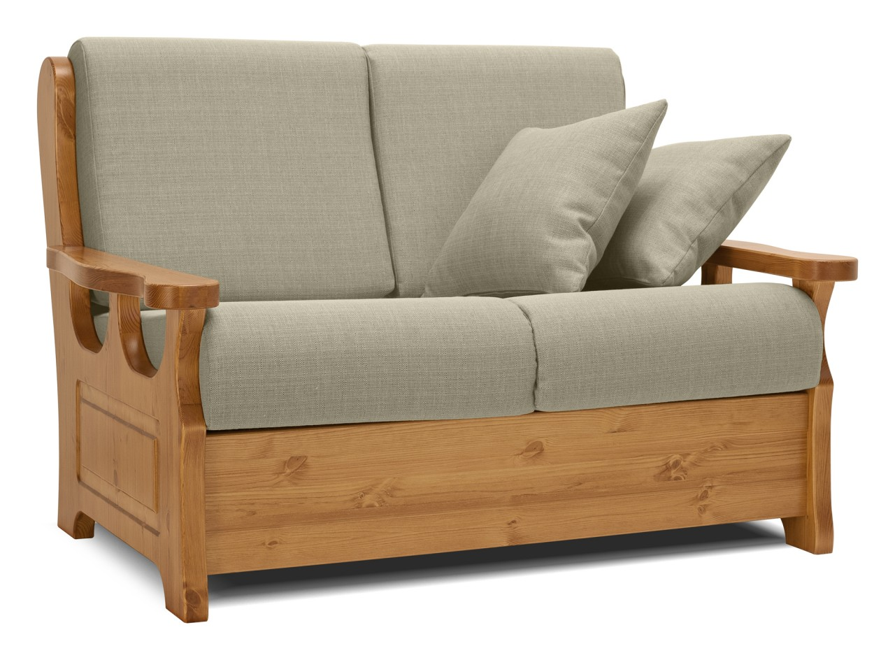 Divani rustici divano champoluc 2 posti letto - Dimensione divano 2 posti ...