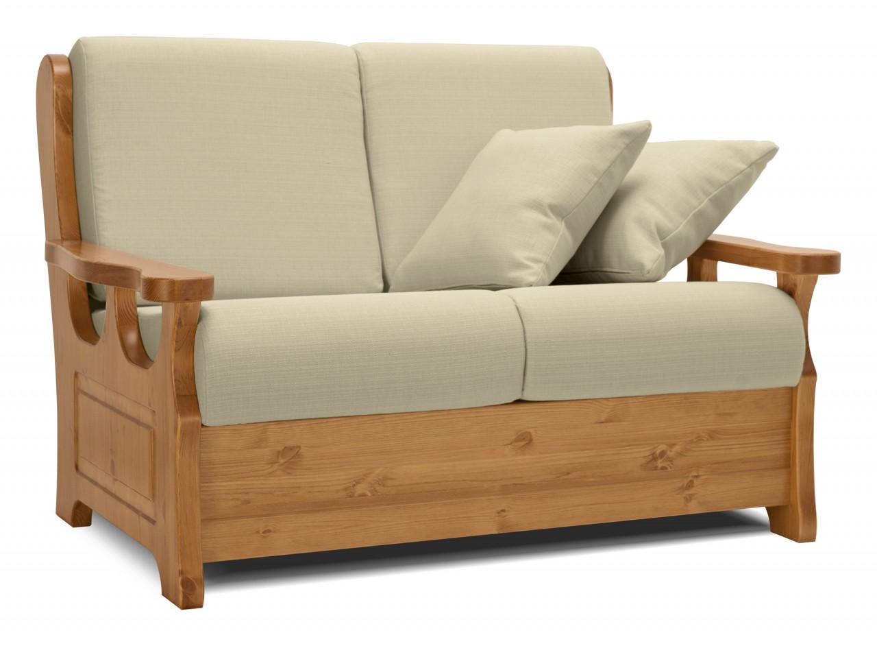 Divani rustici divano champoluc 2 posti letto - Divano letto pino ...