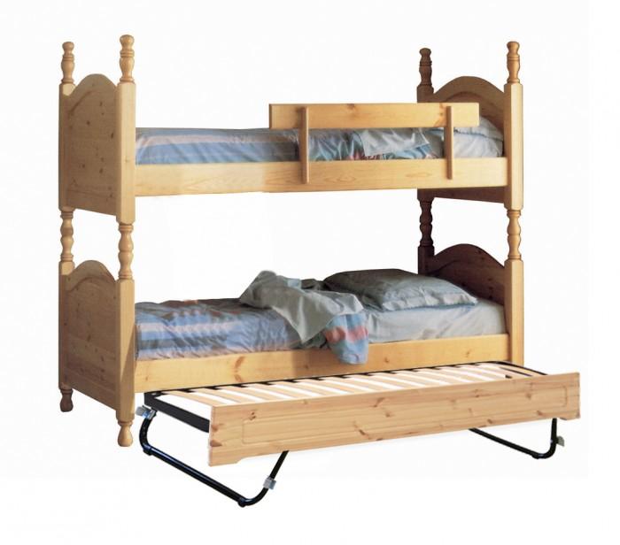 Letti rustici, Letto a castello con letto estraibile ...