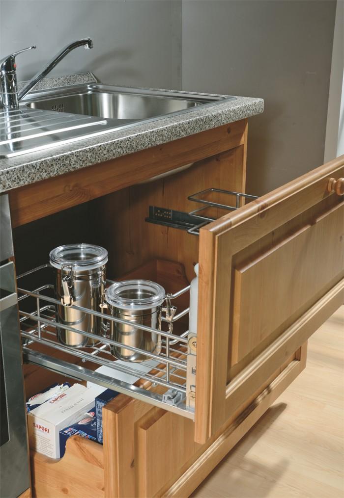 Base cucina anta verona base lavello 90 cestoni arredamenti rustici - Basi per cucina ...