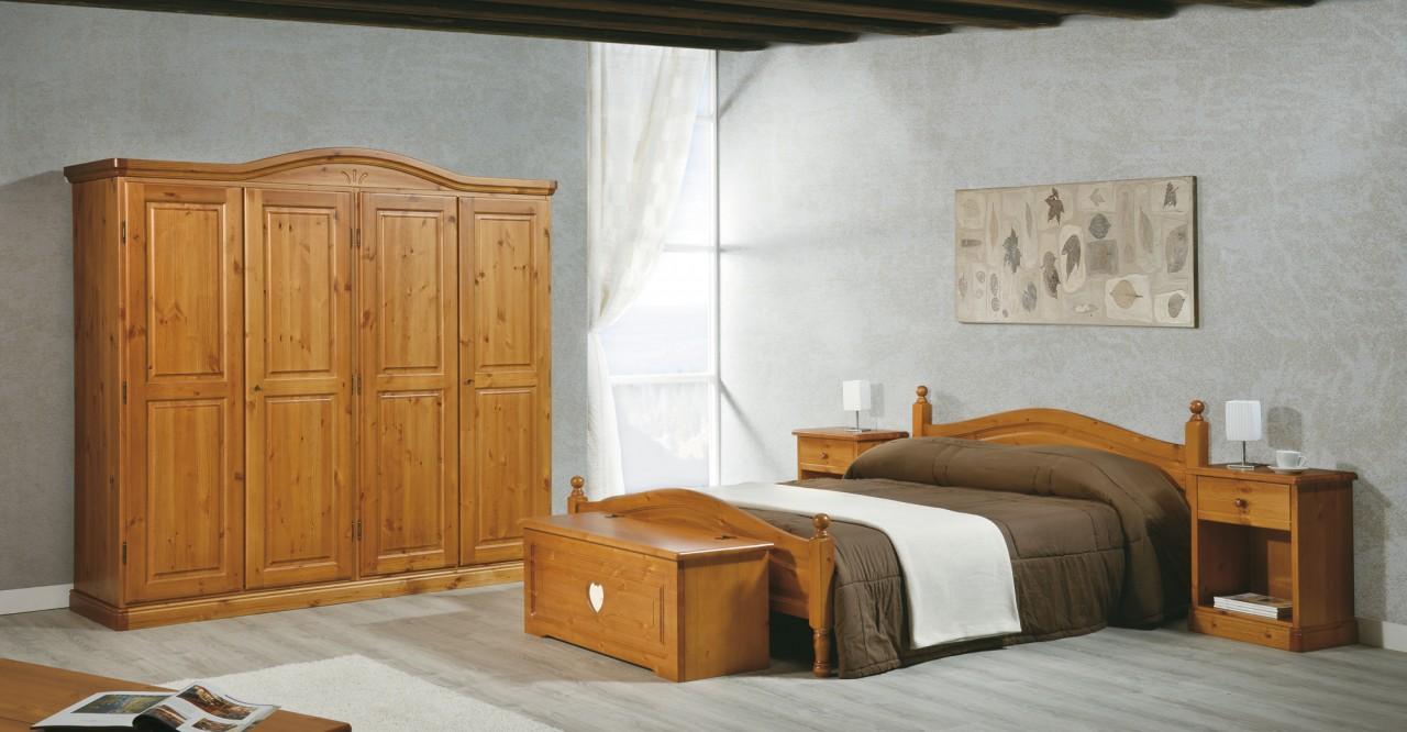 Camere da letto in pino camera ortisei cuore arredamenti for Piani letto rustici