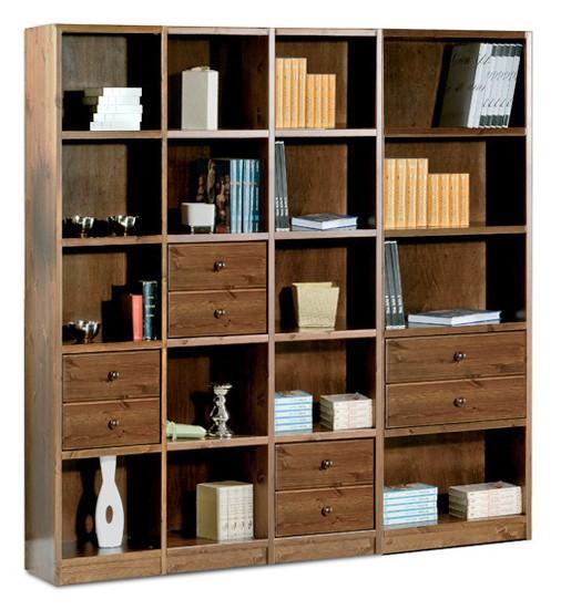 Librerie Componibili rustiche, Composizione L 192 con cassetti ...