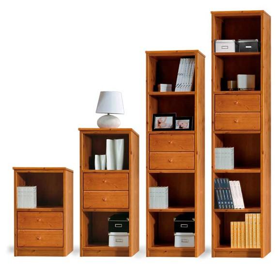 Librerie Componibili rustiche, Modulo Scala con cassetti ...